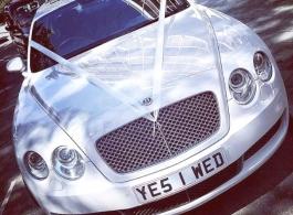 Modern White Bentley for weddings in London